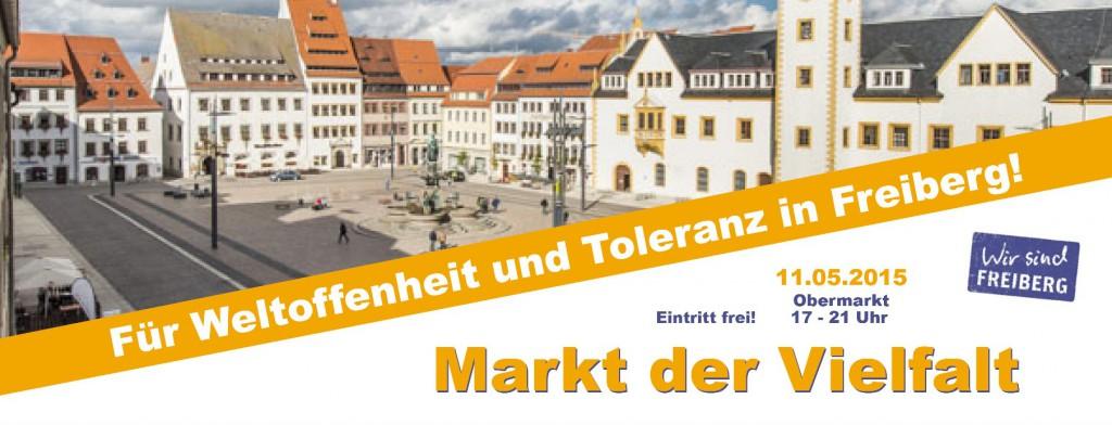 Für Weltoffenheit und Toleranz in Freiberg - Markt der Vielfalt - 11. Mai 2015